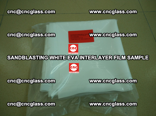 Sandblasting White EVA INTERLAYER FILM sample, EVAVISION (15)