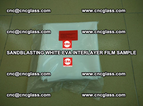 Sandblasting White EVA INTERLAYER FILM sample, EVAVISION (26)