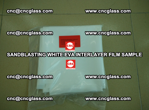 Sandblasting White EVA INTERLAYER FILM sample, EVAVISION (28)