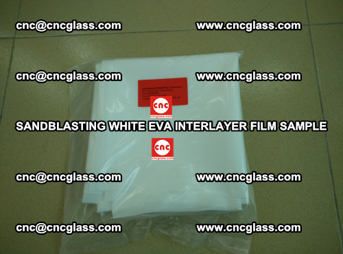 Sandblasting White EVA INTERLAYER FILM sample, EVAVISION (29)