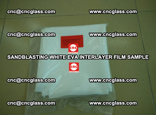 Sandblasting White EVA INTERLAYER FILM sample, EVAVISION (30)