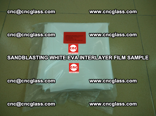 Sandblasting White EVA INTERLAYER FILM sample, EVAVISION (31)