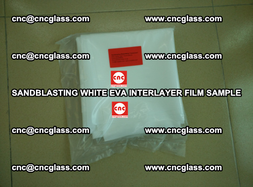 Sandblasting White EVA INTERLAYER FILM sample, EVAVISION (35)