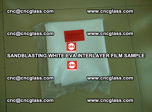 Sandblasting White EVA INTERLAYER FILM sample, EVAVISION (36)