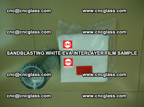 Sandblasting White EVA INTERLAYER FILM sample, EVAVISION (39)
