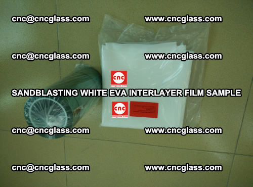 Sandblasting White EVA INTERLAYER FILM sample, EVAVISION (42)