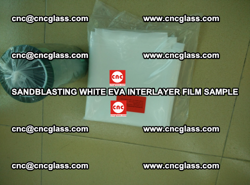 Sandblasting White EVA INTERLAYER FILM sample, EVAVISION (51)