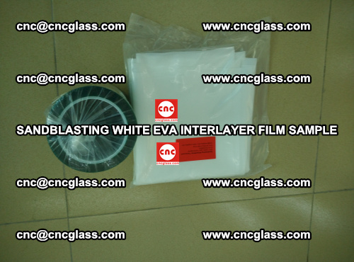 Sandblasting White EVA INTERLAYER FILM sample, EVAVISION (55)