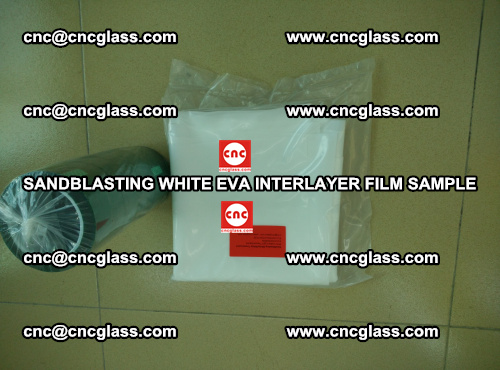 Sandblasting White EVA INTERLAYER FILM sample, EVAVISION (61)