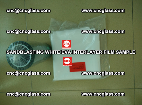 Sandblasting White EVA INTERLAYER FILM sample, EVAVISION (63)