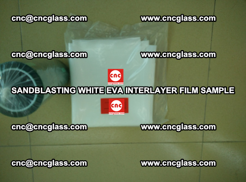 Sandblasting White EVA INTERLAYER FILM sample, EVAVISION (68)