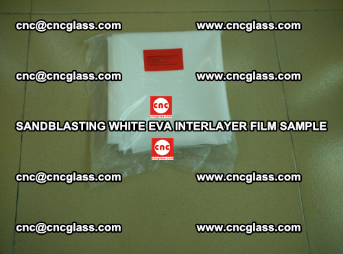 Sandblasting White EVA INTERLAYER FILM sample, EVAVISION (8)