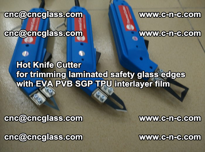 Hot Knife Cutter for trimming laminated safety glass edges with EVA PVB SGP TPU interlayer film (13)