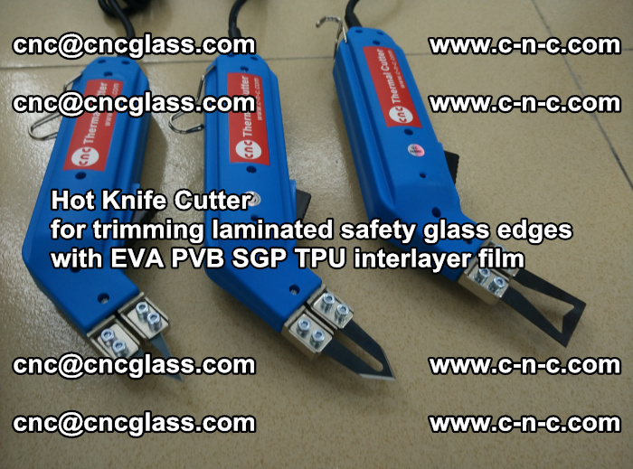 Hot Knife Cutter for trimming laminated safety glass edges with EVA PVB SGP TPU interlayer film (14)