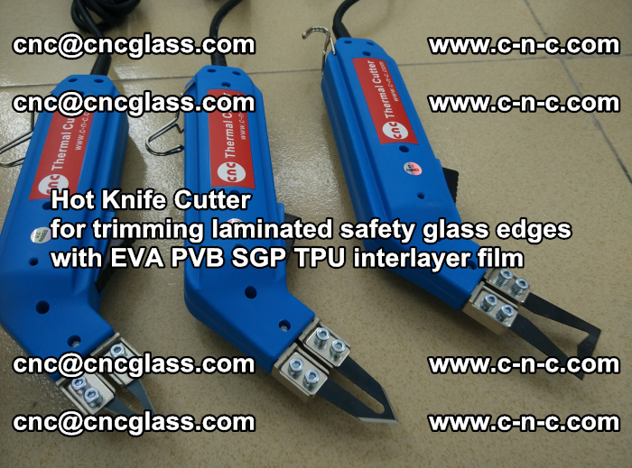 Hot Knife Cutter for trimming laminated safety glass edges with EVA PVB SGP TPU interlayer film (15)