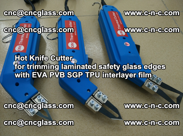 Hot Knife Cutter for trimming laminated safety glass edges with EVA PVB SGP TPU interlayer film (16)