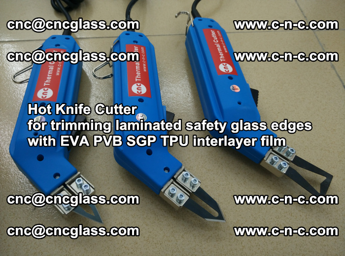 Hot Knife Cutter for trimming laminated safety glass edges with EVA PVB SGP TPU interlayer film (18)