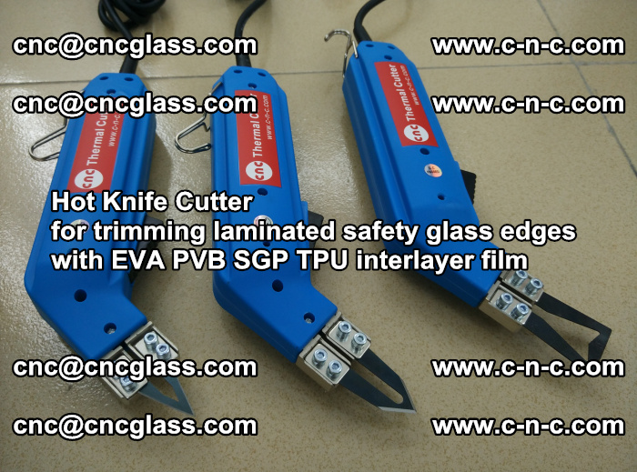 Hot Knife Cutter for trimming laminated safety glass edges with EVA PVB SGP TPU interlayer film (19)