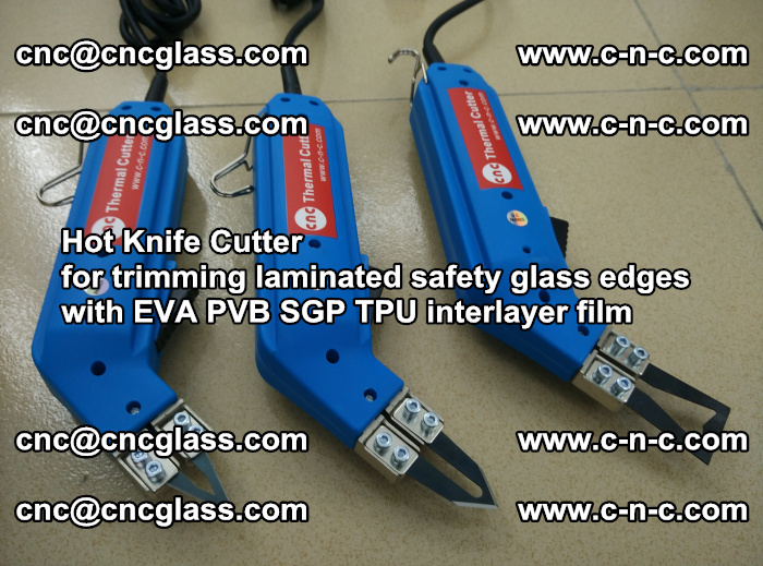 Hot Knife Cutter for trimming laminated safety glass edges with EVA PVB SGP TPU interlayer film (20)