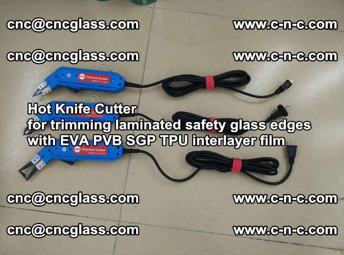 Hot Knife Cutter for trimming laminated safety glass edges with EVA PVB SGP TPU interlayer film (23)