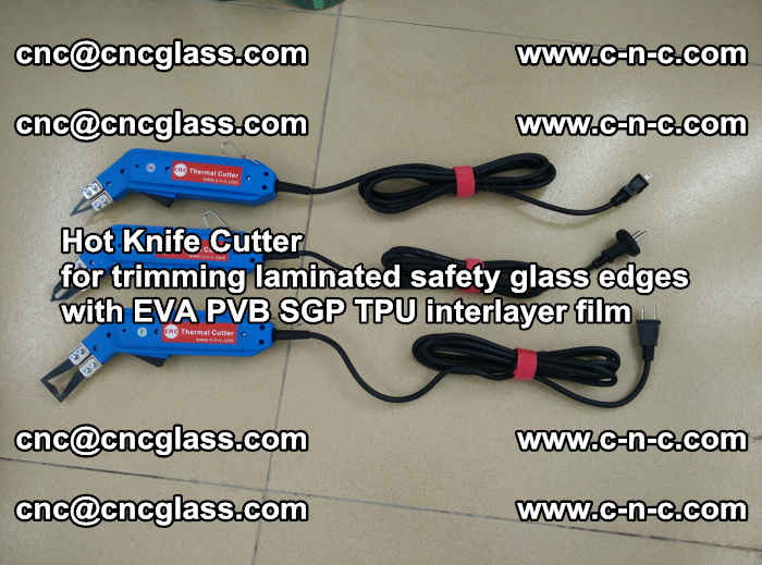 Hot Knife Cutter for trimming laminated safety glass edges with EVA PVB SGP TPU interlayer film (24)