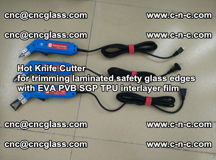 Hot Knife Cutter for trimming laminated safety glass edges with EVA PVB SGP TPU interlayer film (25)