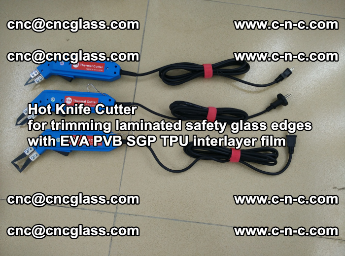 Hot Knife Cutter for trimming laminated safety glass edges with EVA PVB SGP TPU interlayer film (26)