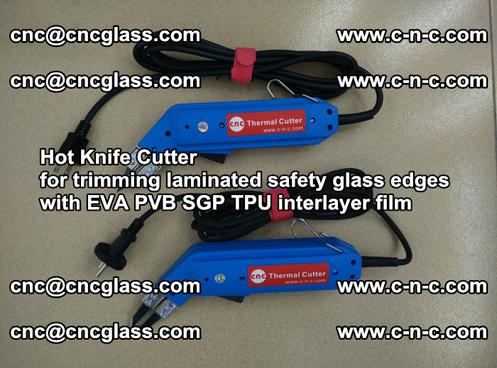 Hot Knife Cutter for trimming laminated safety glass edges with EVA PVB SGP TPU interlayer film (57)