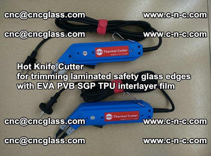 Hot Knife Cutter for trimming laminated safety glass edges with EVA PVB SGP TPU interlayer film (58)