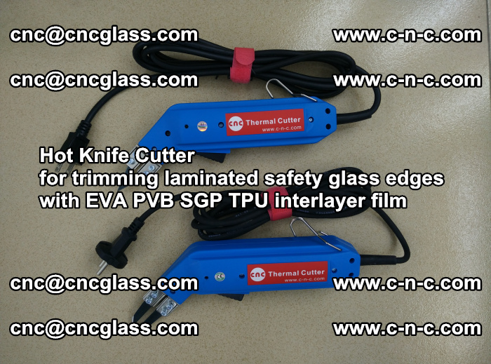Hot Knife Cutter for trimming laminated safety glass edges with EVA PVB SGP TPU interlayer film (59)