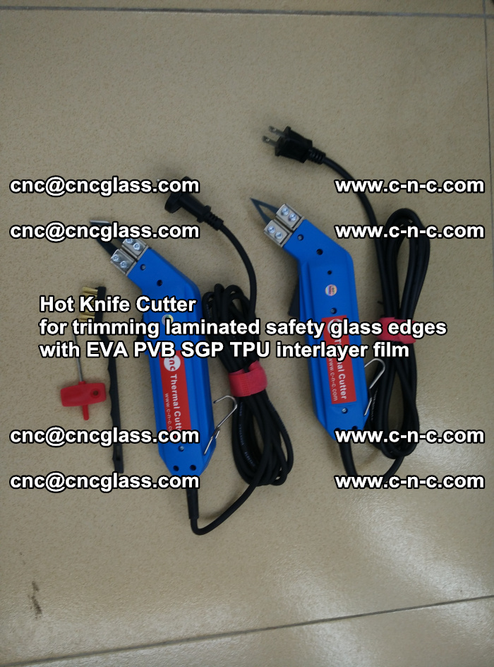 Hot Knife Cutter for trimming laminated safety glass edges with EVA PVB SGP TPU interlayer film (6)