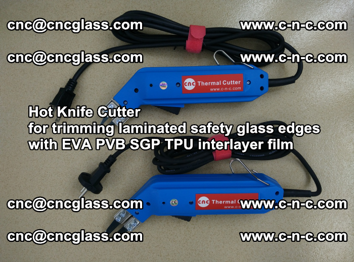 Hot Knife Cutter for trimming laminated safety glass edges with EVA PVB SGP TPU interlayer film (60)