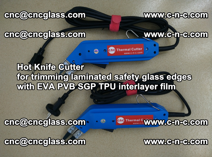 Hot Knife Cutter for trimming laminated safety glass edges with EVA PVB SGP TPU interlayer film (61)