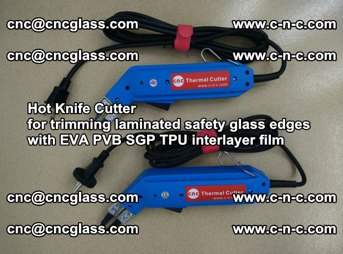 Hot Knife Cutter for trimming laminated safety glass edges with EVA PVB SGP TPU interlayer film (62)