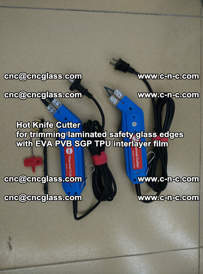 Hot Knife Cutter for trimming laminated safety glass edges with EVA PVB SGP TPU interlayer film (78)