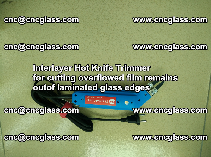 Interlayer Thermal Cutter for trimming overflowed glass interlayer glues after safety glazing (35)