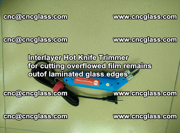 Interlayer Thermal Cutter for trimming overflowed glass interlayer glues after safety glazing (80)