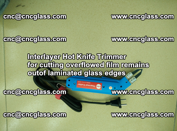 Interlayer Thermal Cutter for trimming overflowed glass interlayer glues after safety glazing (9)