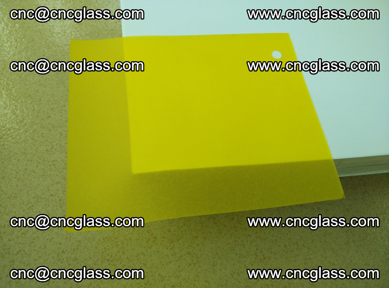 Eva glass laminating interlayer film foil Lemon yellow clear (1)