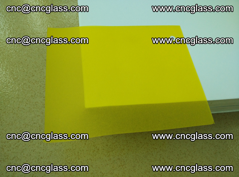 Eva glass laminating interlayer film foil Lemon yellow clear (17)