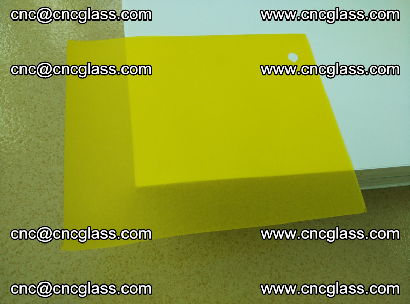 Eva glass laminating interlayer film foil Lemon yellow clear (18)