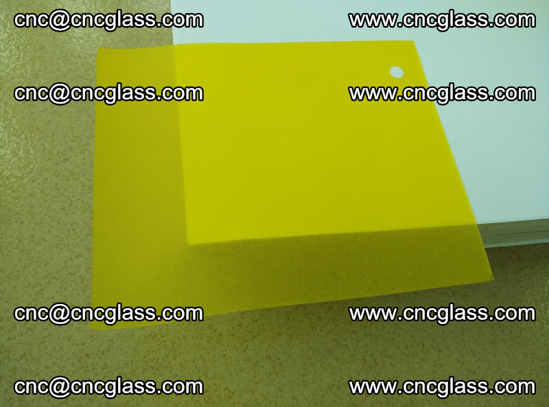 Eva glass laminating interlayer film foil Lemon yellow clear (20)