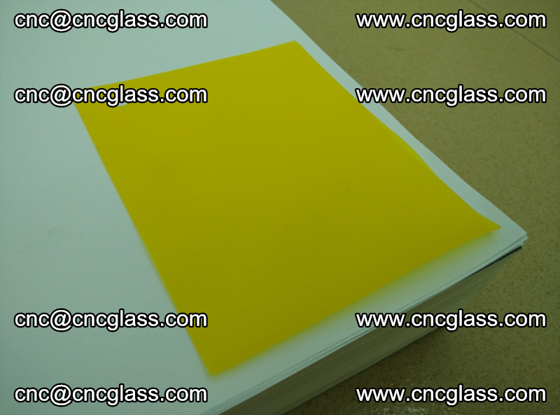 Eva glass laminating interlayer film foil Lemon yellow clear (3)