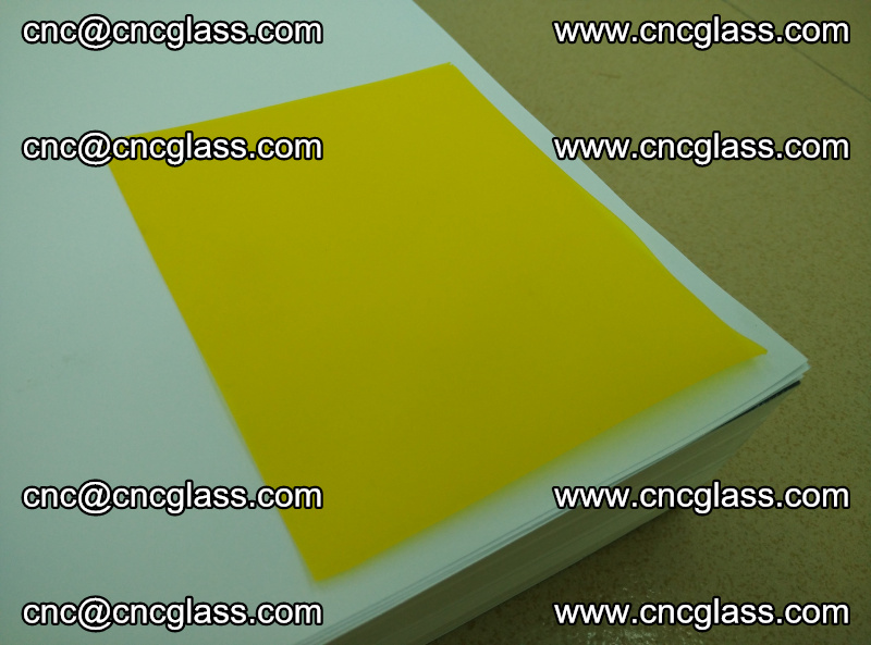 Eva glass laminating interlayer film foil Lemon yellow clear (4)