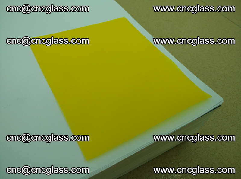 Eva glass laminating interlayer film foil Lemon yellow clear (5)