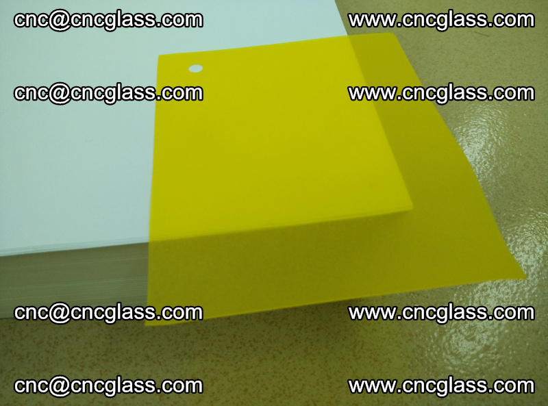 Eva glass laminating interlayer film foil Lemon yellow clear (8)