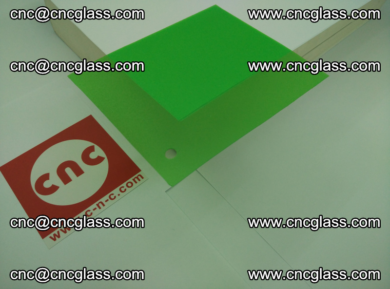 Eva glass laminating interlayer film foil Light green transparent color (1)