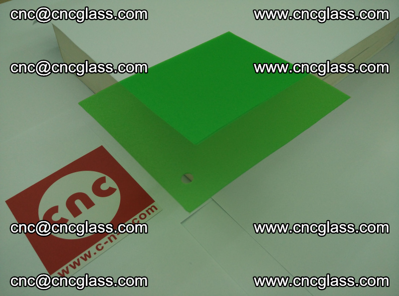 Eva glass laminating interlayer film foil Light green transparent color (16)