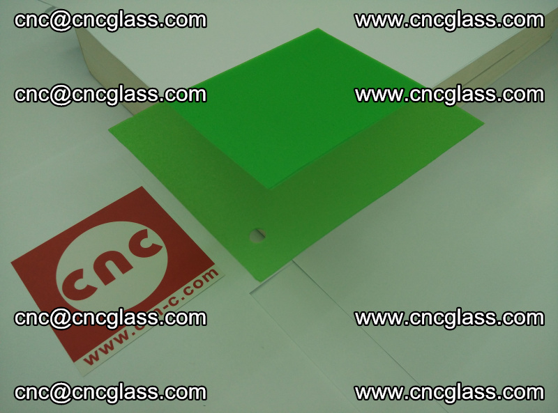 Eva glass laminating interlayer film foil Light green transparent color (17)