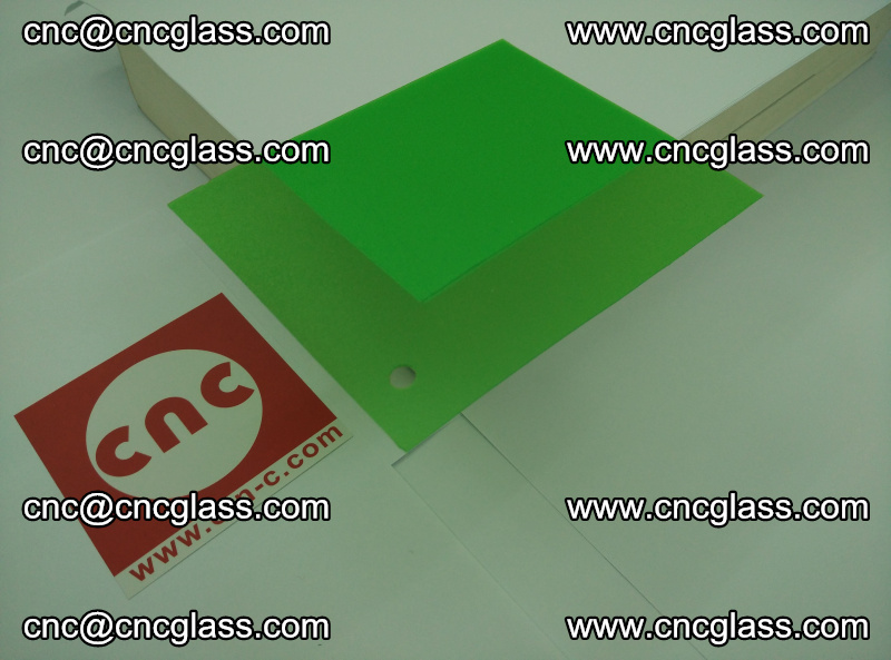 Eva glass laminating interlayer film foil Light green transparent color (18)